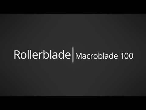 Video: 2017 Rollerblade Macroblade 100 Mens and Womens Inline Skate Overview by InlineSkatesDotCom