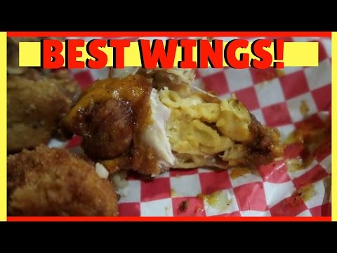 MAC & CHEESE STUFFED CHICKEN WINGS | 2 Fat 2 Fly Columbia SC || Simply BTs