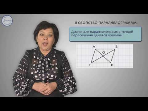 Параллелограмм, свойства параллелограмма