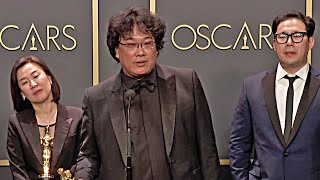 Oscars 2020 PARASITE Kwak Sin Ae, Bong Joon Ho and Han Jin Won - Winner Speech