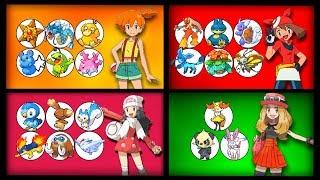 Misty  - (Pokémon) - Every Pokemon owned by Every Pokegirl in Pokemon (Misty to Lillie)