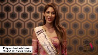 Introduction Video of Priyeshka Lutchman Miss South Africa 2017 Contestant from Rosebank, Gauteng