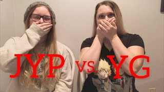 My Sister Reacts To JYP VS YG — Stray Kids Reaction