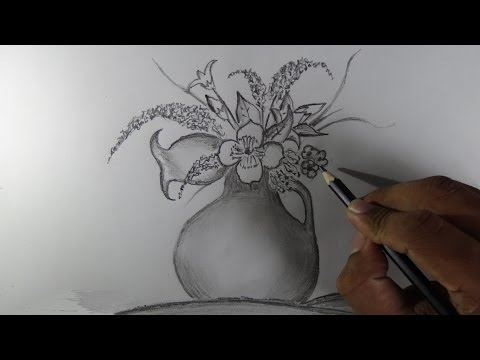 Download How To Draw A Flower Vase Pencil Drawing Mp4 Hd 3gp Codedwap