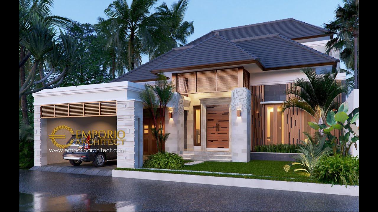 Video 3D Desain Rumah Villa Bali 2 Lantai Bapak Dwi Harsono di Jawa Tengah