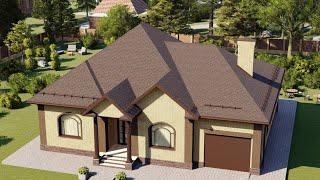 Проект дома 168-C, Площадь дома: 168 м2, Размер дома:  16,1x4,1 м
