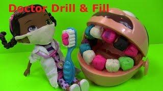 Bé Tập Làm Bác Sĩ Khám Răng Bằng Bộ Đồ Chơi Doctor Drill & Fill [Chị Bí Đỏ]