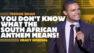 """Click to Subscribe: http://bit.ly/SubscribeTrevorNoah & turn on notifications to find out when I upload new videos.  More videos...  From """"It's My Culture"""" """"My Mom Got Shot In The Head"""" https://youtu.be/Yphxh5L8YbQ """"Lost My Voice""""  https://youtu.be/lZbNwIQe2D4 """"Springbok Bafana"""" https://youtu.be/6bolC02Sht0 """"Service With A Smile"""" https://youtu.be/wV2k_PtRoL8 """"Funny, Funny"""" https://youtu.be/-ZnGZVZ56ts """"Zambia loves escalators, just don't be gay"""" https://youtu.be/L3SIdXPtB0M  From """"There's A Gupta On My Stoep"""" """"We Can Fight With Our Police"""" https://youtu.be/EEjZ0Gh_y8I """"Retract The Feces"""" https://youtu.be/qzT24Qoyp4E """"White People Can't March"""" https://youtu.be/h7iDUOG3XNE """"Trump VS. Jong-Un VS. Zuma / Donald & Melania Are Fighting"""" https://youtu.be/FxvQlH4WoSY  From """"That's Racist"""" """"Surfing AIDS"""" https://youtu.be/BMf5--QPyNw  From """"The Daywalker"""" """"Throwback! """"The Daywalker"""" https://youtu.be/bbkvm8cQDdI  From """"Crazy Normal"""" """"You Don't Know What The South African Anthem Means!"""" https://youtu.be/32Ll5oE9kwg """"Overbooking Business Class"""" https://youtu.be/80ULDtPkUQg """"Death At A Funeral"""" https://youtu.be/B50sVK_VT4A """"Attention All Passengers"""" https://youtu.be/Ms6W9zgjN9E """"Jacob Zuma's Speech"""" https://youtu.be/WNwJXPcrves  From """"Lost In Translation"""" """"Flying Into America"""" https://youtu.be/KxoktuehP3c """"Getting Pulled Over In America"""" https://youtu.be/jFwBWfIoqYg """"In Contact With Ebola"""" https://youtu.be/oKbC3DBqXQc """"Mexican Jedi"""" https://youtu.be/9ESi7NfEbWE  From """"Pay Back The Funny"""" """"The Presidential Eye Roll"""" https://youtu.be/pPb3UJiH6uQ """"Don't Lose Your Accent / Learning Accents"""" https://youtu.be/MhCEdIqFCck """"Emojis & Selfies: Cellphones Are Robbing Us"""" https://youtu.be/2r3qk7ifgI4 """"My Red Carpet Trauma"""" https://youtu.be/XRVXhZckSa8  From """"Nation Wild Comedy"""" """"Jokes About Deaf People"""" https://youtu.be/xY_pr8lL_3k """"Don't Hate On The Vuvuzela"""" https://youtu.be/zu4btYowL10  From """"African American"""" """"Good Credit, Buy Anything!"""" https://youtu.be/NvLtjOiMDYE """"It Makes No Sense!"""" """