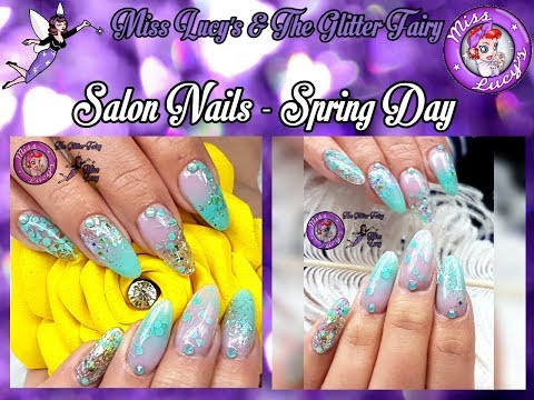 Acrylic Nails - Salon Design - Spring Pretties