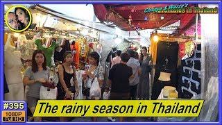 The rainy season in Thailand