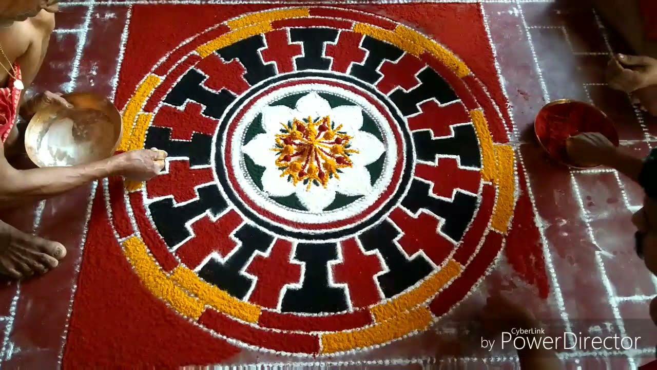 mandala rangoli design chakrabja pathmam by radhakrishnan