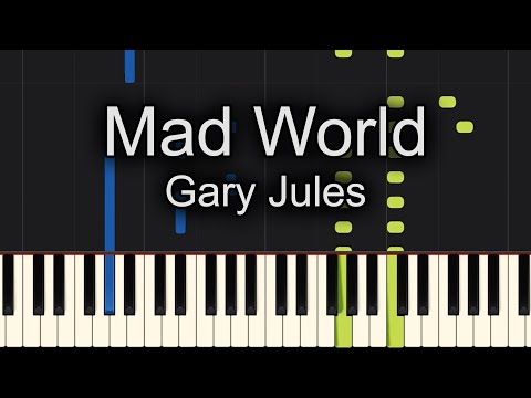 Mad World Gary Jules Piano Tutorial Lesson Pgn Piano
