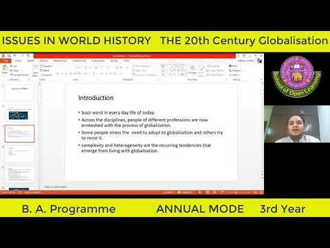 ISSUES IN WORLD HISTORY THE 20TH CENTURY GLOBALISATION (ENGLISH MEDIUM) By - ABHINAV MISHRA