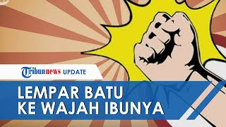 Anak di Palembang Tega Lempat Batu ke Muka Ibunya Saat Menonton TV Tanpa Sebab, Pelaku Residivis