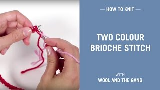 Two colour brioche stitch