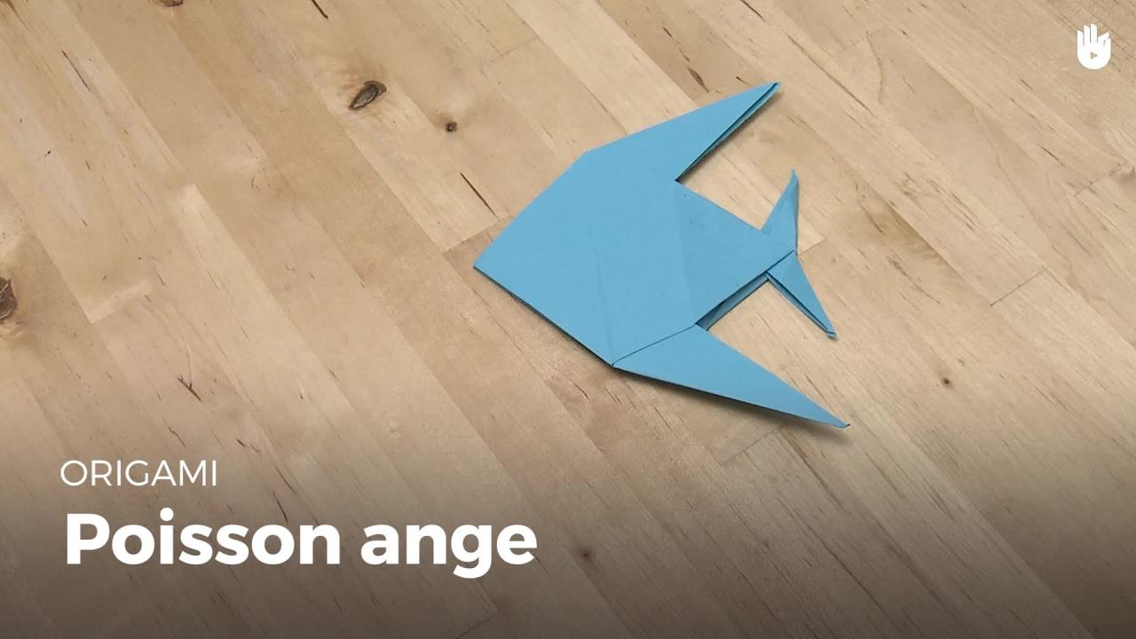 Faire Un Poisson Ange Apprendre A Faire Des Origamis Sikana