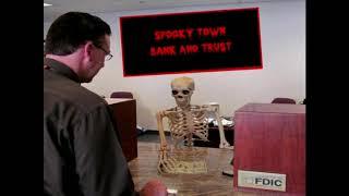 skeleton banker