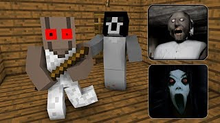 Monster School : GRANNY VS SLENDRINA HORROR GAME CHALLENGE - Minecraft Animation