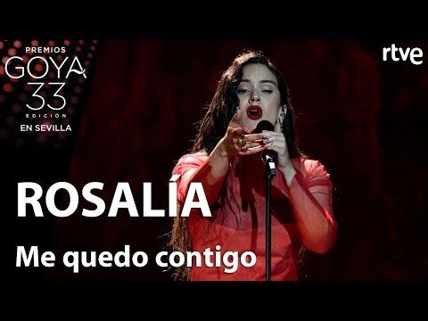 Rosalía Canta Me Quedo Contigo Goya 2019