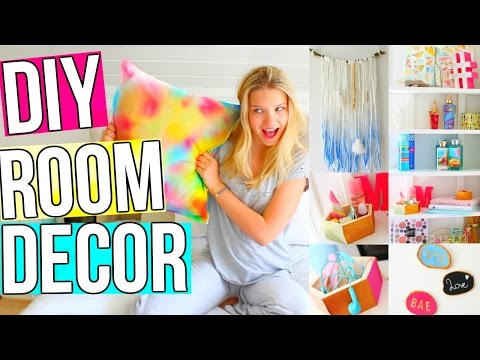 DIY Room Decor! 5 DIY Room Decoration & Organization Ideas for Teenagers! Easy, Inexpensive & Quick!