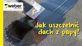 Jak uszczelnić dach z papy? Instrukcja remontu bitumiczną powłoką naprawczą weber.tec 905
