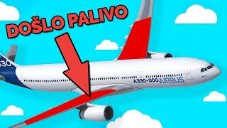 AIRBUSU DOŠLO PALIVO, PILOTI UDĚLALI…