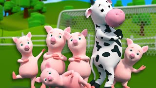 Five Little Piggies   3D Nursery Rhymes For Kids And Childrens   Songs For Baby