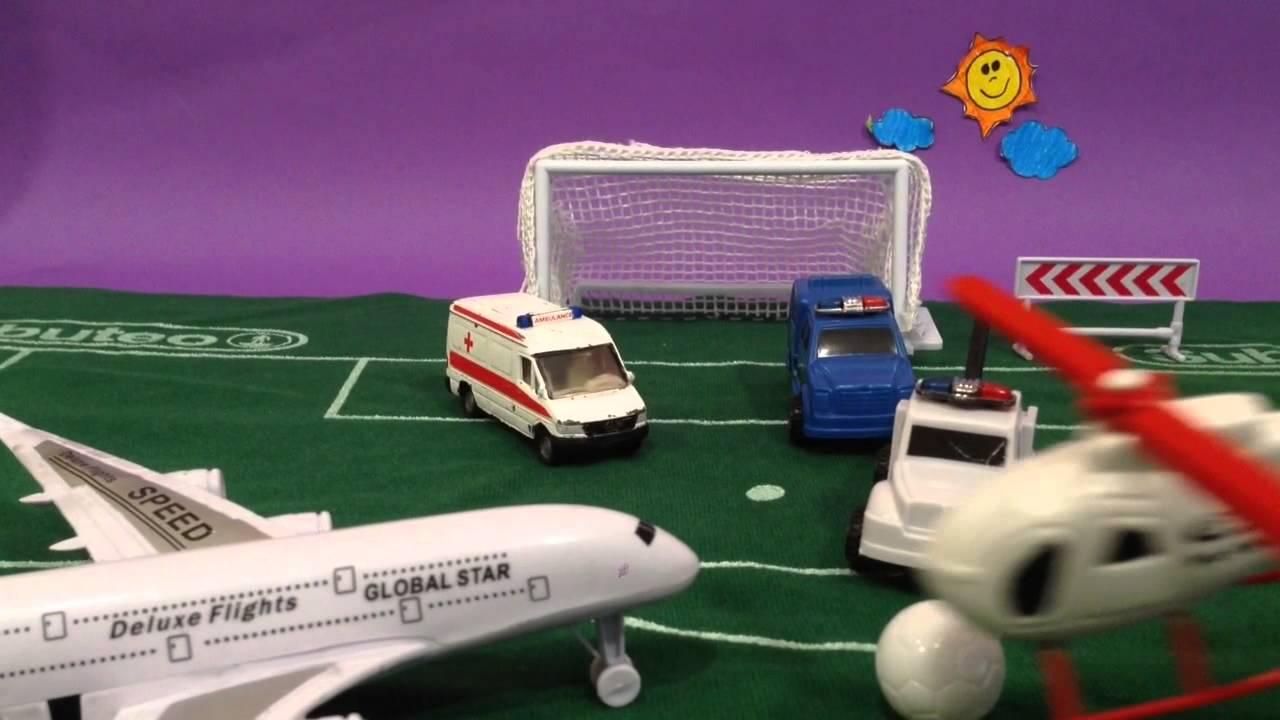 Fútbol : Coches contra aviones