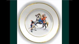 """Декоративные тарелки """"КАВАЛЕРИЯ 19 В. 2 """".  Decorative plates """"CAVALRY 19 Centuries."""""""