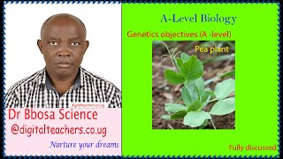 Genetics objectives (A-level)