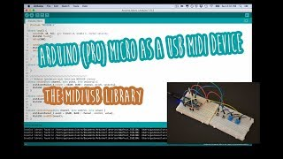 Arduino (Pro) micro as a USB-MIDI device (MIDIUSB library) - and change its name to whatever you wan