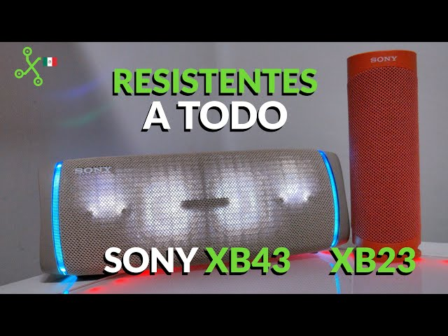 Sony SRS-XB43 y XB23, experiencia de uso: batería de 24 horas que incluso carga tu CELULAR