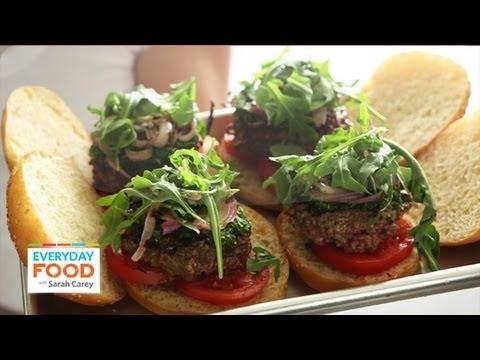 Chimichurri Burger – Everyday Food with Sarah Carey