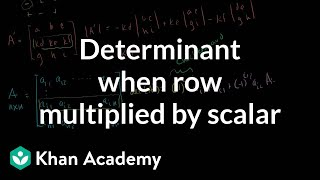 Linear Algebra: Determinant when row multiplied by scalar
