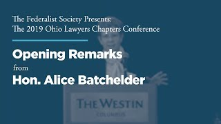 Click to play: Opening Remarks from Hon. Alice Batchelder