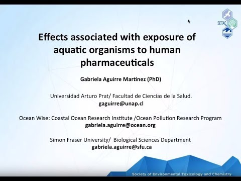 Effects Associated with Exposure of Aquatic Organisms to Human Pharmaceuticals