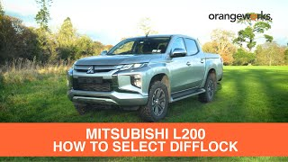 How to select Difflock in your Mitsubishi Triton