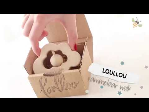 loullou rattle / teether cloud