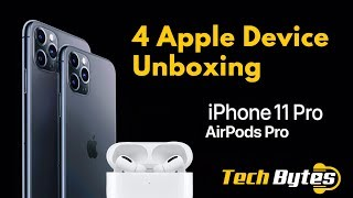 Apple iPhone 11 Pro Max Unboxing & Airpods Pro Intro Chennai | Midnight Green | TECHBYTES
