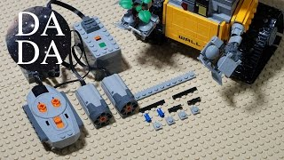 MOC – LEGO Wall-E RC Motorized Speed Build (instruction)