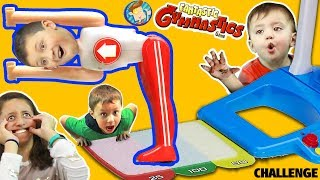 FANTASTIC GYMNASTICS CHALLENGE! Losers Eat Melted Surprise! FUNnel V Flips & Fails Fun