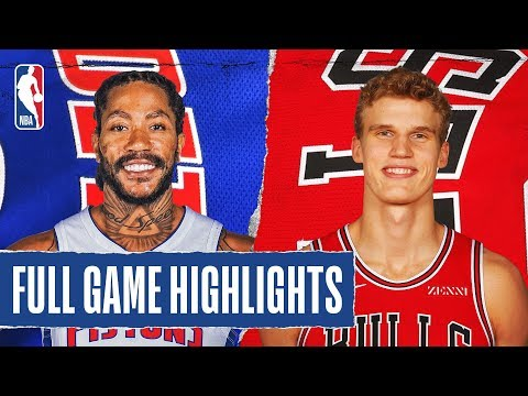PISTONS at BULLS | FULL GAME HIGHLIGHTS | November 20, 2019