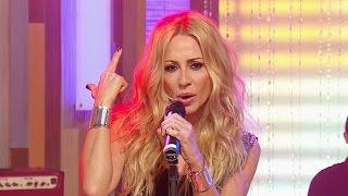 """Marta Sánchez canta """"La que nunca se rinde"""" en Despierta América"""