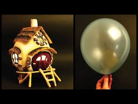 ❣DIY Fairy House Lamp Using a Balloon❣