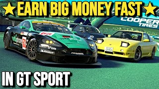 How To Earn BIG MONEY FAST On GT SPORT!! (1.28 Update)