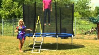 Garten-Trampolin TRN-305 mit Sicherheitsnetz, 305 cm