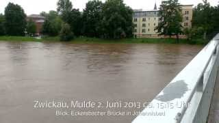 preview picture of video 'Hochwasser, Zwickau 2. Juni 2013, Katastrophenalarm in Raum Zwickau'