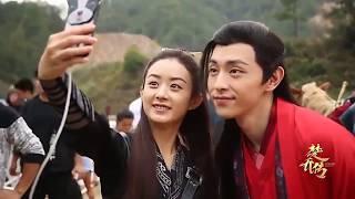 Hậu Trường Sở Kiều Truyện - Triệu Lệ Dĩnh Nhảy Và Selfie Cùng Hai Nam Thần