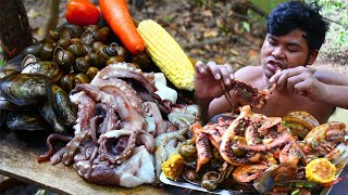 Cooking Otopus, Snails, Prawns, Oyster Seafood Recipe - Cook Delicious Food For Lunch