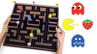 DIY PACMAN Game From Cardboard + Arcade Games Quiz!